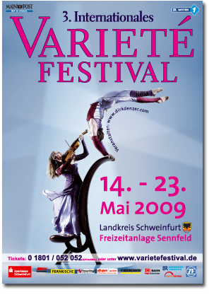Plakat des 3. Internationale Varietéfstival 2009