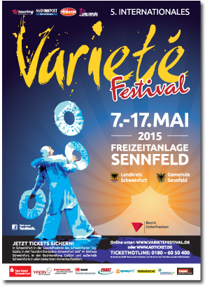 Plakat Internationales Varietefestival 2015